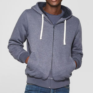 Men's Sherpa Lined Zip Hoody, Geneva Blue